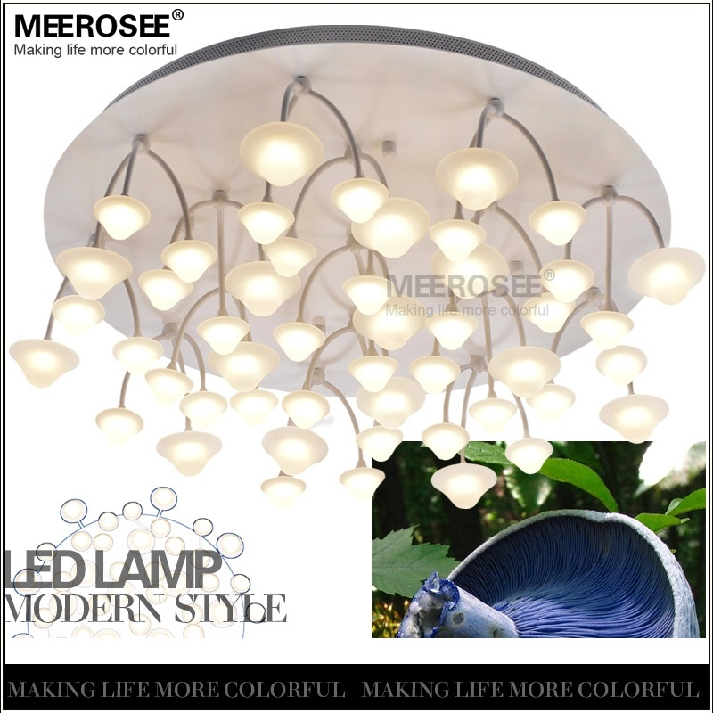 Meerosee New Design Ceiling LED Light Luster Modernes Fancy Decorative Indoor Lamp Round Base Mushrooms Pendants Fixture MD2419 Lighting