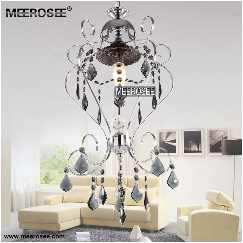 Meerosee small fancy glass chandelier light fixture silver lustre meerosee small fancy glass chandelier light fixture silver lustre suspension chandelier lamp meerosee lighting md8862 d300mm h600mm chandeliers wrought iron aloadofball Gallery